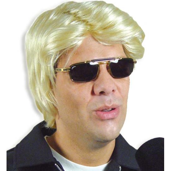 Blonde feestpruik heren