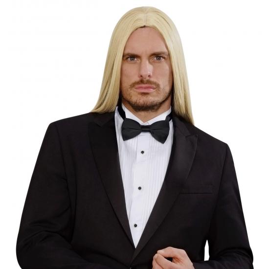 Blonde lange pruik voor heren