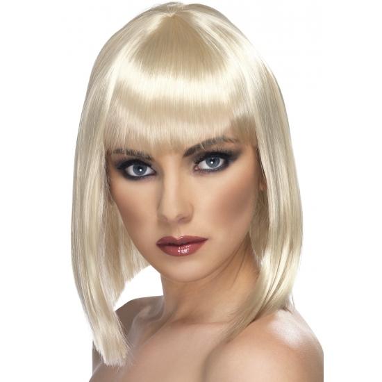 Carnaval damespruik blond