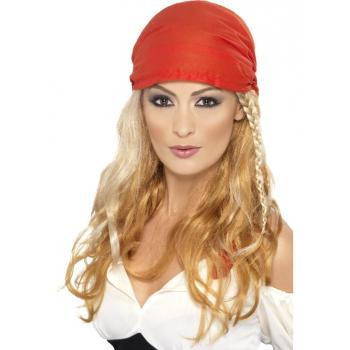 Carnavals pruik piraat voor vrouwen