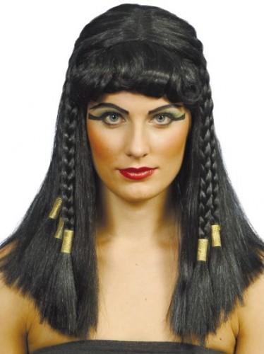 Cleopatra pruik met vlechtjes