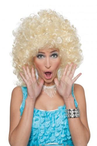 Dames pruik met blonde krullen
