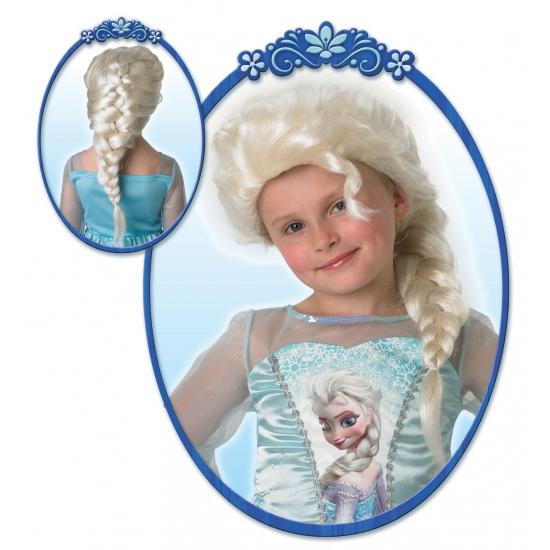 Elsa pruik blond voor meiden