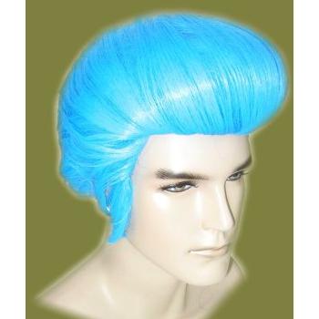 Elvis pruiken in het blauw