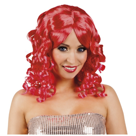 Glamour krullen pruik rood