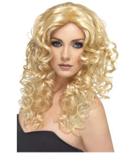 Golvende dames pruik blond