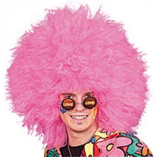Jumbo roze pruik voor volwassenen