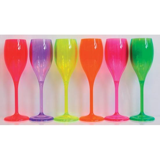 Kunststof glas fluoriserend rood