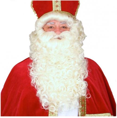 Luxe Sinterklaas pruik en baard