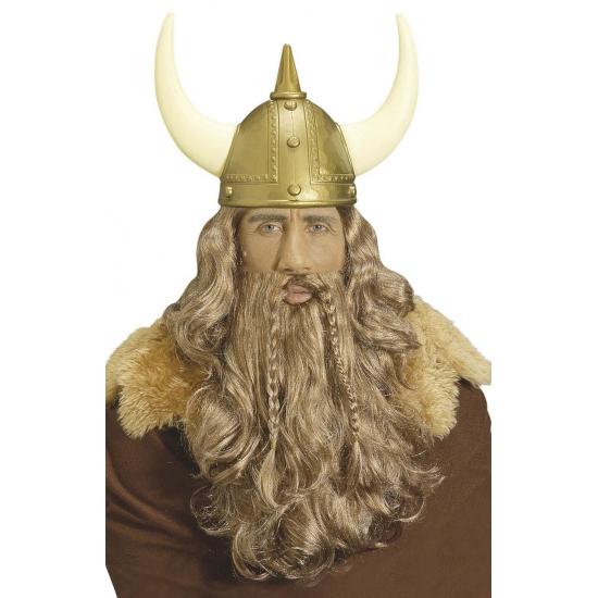 Luxe viking pruik met baard en snor