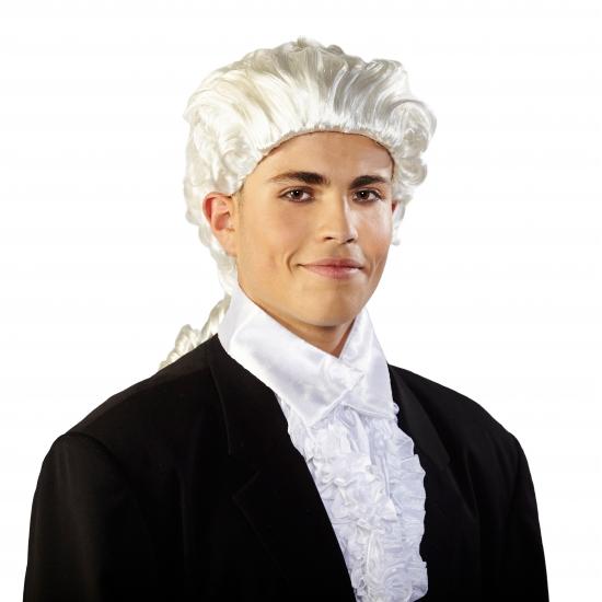 Mozart pruik met staart