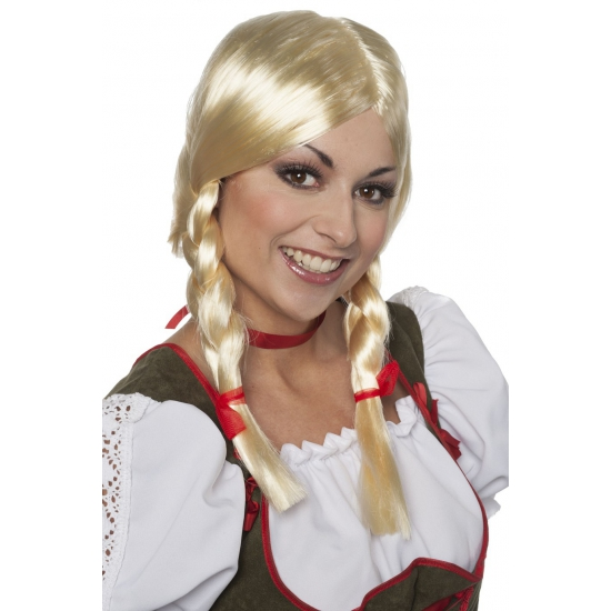 Oktoberfest blonde pruik Greetje