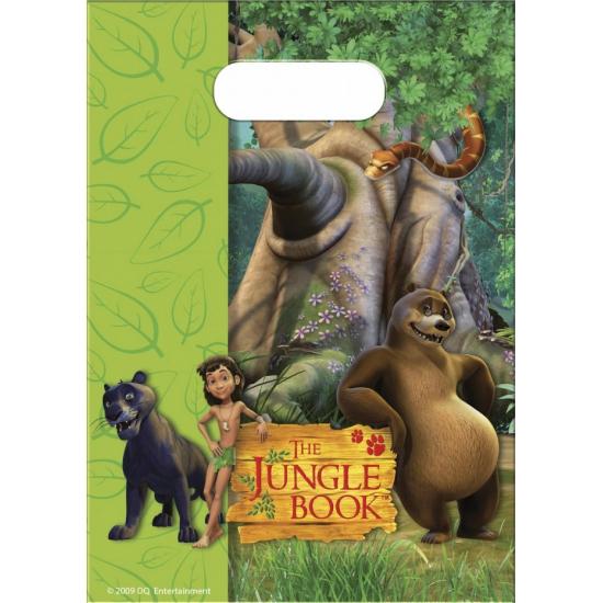 Plastic Jungle Book feestzakjes 6 stuks