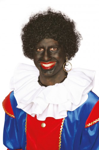 Sinterklaas hulpje zwarte pruik