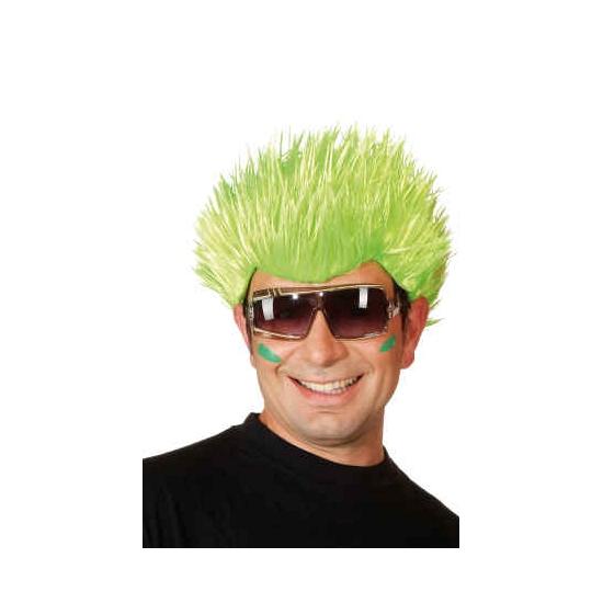 Spike pruik neon groen