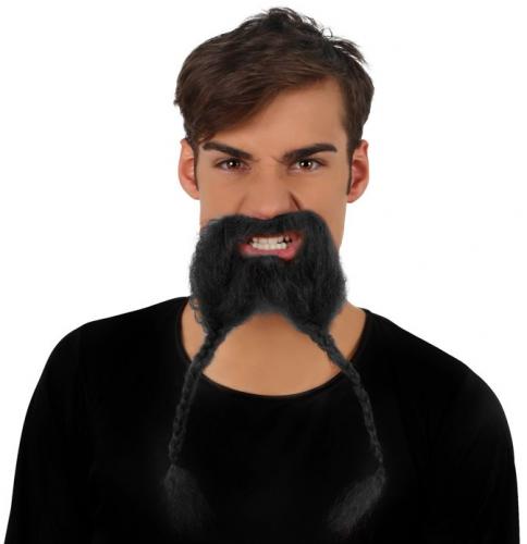 Viking snor + baard met vlechtjes