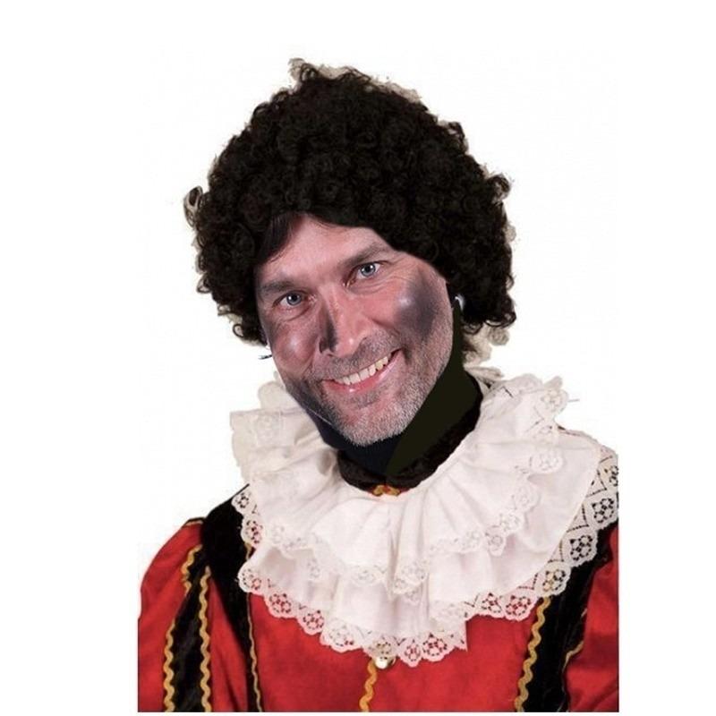 Zwarte Piet pruik voor dames en heren