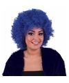 Blauwe afropruik