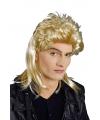 Blonde 80s herenpruik