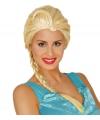 Blonde elsa prinsessen pruik met vlecht