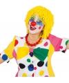 Gele clownspruik van wol