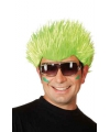Neon groene spike pruik
