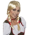 Oktoberfest blonde damespruik greetje