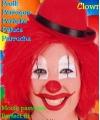 Rode clowns pruik met touwtjes