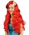 Rode zeemeermin damespruik