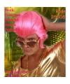 Roze elvis pruik heren