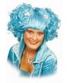 Turquoise fantasie pruik voor dames
