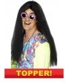 Voordelige lange hippie heren pruik