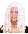 Witte barok pruik voor dames