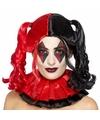 Zwart rode harley look a like damespruik met staarten