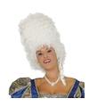 Witte hoge barok pruik voor dames